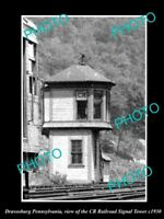 OLD LARGE HISTORIC PHOTO OF DRAVOSBURG PENNSYLVANIA THE CR RAILROAD TOWER c1930
