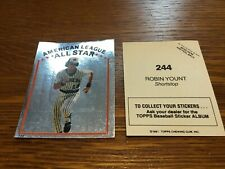 (100) ONE HUNDRED  1981 TOPPS BASEBALL STICKERS  ROBIN YOUNT BREWERS  HOF