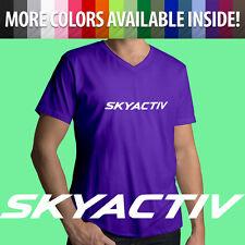 Skyactiv Mazda 3 6 Miata MX5 Mazdaspeed Automotive Auto Mens Tee V-Neck T-Shirt