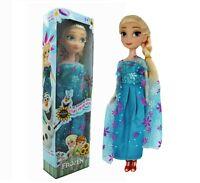 New Birthday Gift Playset Frozen Princess Elsa Doll Figure Toy Gift Present 25CM