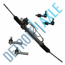 5 pc Set: Power Steering Rack and Pinion + 2 Outer Tie Rod + 2 Sway Bar Link Kit