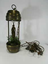 "VTG SMALL RAIN DRIP MINERAL OIL HANGING SWAG LAMP LIGHT NUDE GODDESS WOMAN 18"""