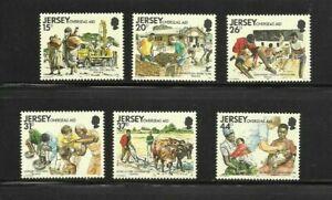 Jersey 1991 Overseas Aid set MNH