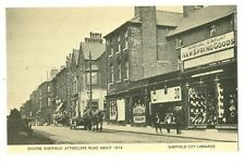 Sheffield - a modern reproduction postcard of Attercliffe Road in about 1914