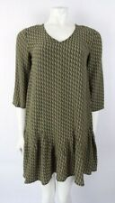 Berenice Green Graphic Peplum Dress Size FR 36 UK 8 BNWTS