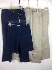 Cat & Jack Boys Uniform Pants Short Lot Of 5 Size 10 Khaki Blue B22*Y