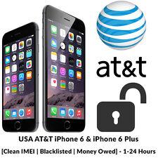 AT&T FACTORY UNLOCK PREMIUM SERVICE FOR CLEAN ATT IPHONE 3 4 4S 5C 5S 6 6+ FAST