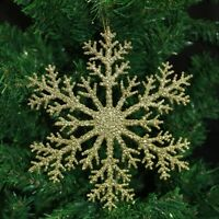 Glitter Large Gold Red Snowflake Christmas Tree Hanging Pendant Decorations