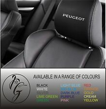 5 peugeot car seat head rest decal sticker vinyl graphic logo badge free post