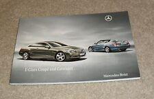 Mercedes E Classe Coupé Cabriolet Brochure 2010 E220 E250 E350 CDI CGI E500 SPORT