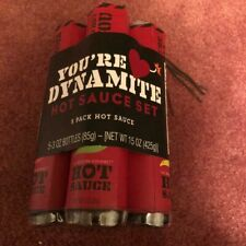 YOU'RE DYNAMITE HOT SAUCE SET 5 PACK OF HOT SAUCE, - NEW.