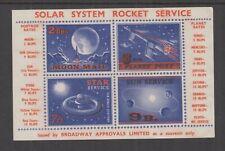 Uk/Australia c1960s (-) Rocket Mail-(Broadway Approvals ) M/S- Cinderella -Mng