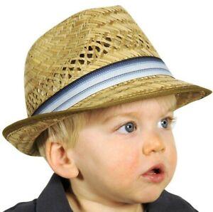 Strohhut Mädchen Jungen Hut Trilby Kinder Sonnenhut Strandhut Sommerhut Sommer
