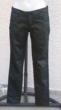Pantalon Jeans Noir Marbré Doré Effet Enduit Jennyfer Taille 40