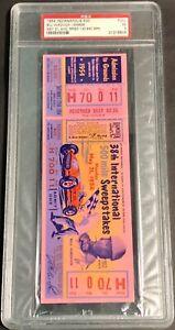 1954 Indianapolis 500 Full Ticket, Unused PSA 5 graded Indy 500 race L@@K