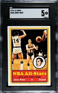 1973 Topps Jerry West #100 (Hall of Fame) SGC 5
