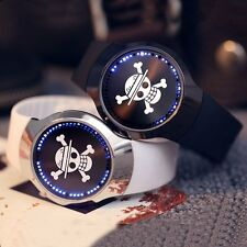 Casual One Piece LED Touch Screen Wrist Watch Quartz Silicone Band Anime Fan