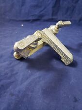 Antique Sink faucet Chrome Brass Hammered  rare sold as found hot cold bathroom