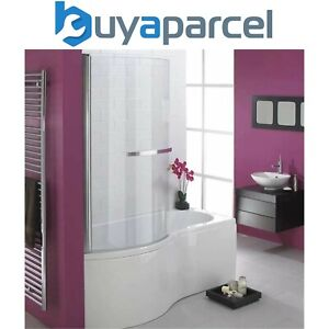 Essential Hampstead P Shaped Shower Bath & Screen 1700 X 900mm Left Hand White