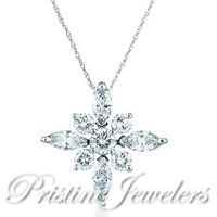 925 Sterling Silver Frozen Snowflake Star Pendant Chain Women Christmas Necklace