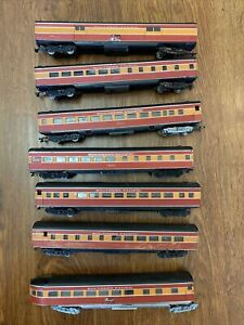Lot Of 7 Athearn Southern Pacific Daylight Streamlined Passenger Cars HO Scale