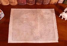 Rare Original 1809 Antique World Map AFRICA Morocco Casablanca Egypt Sahara Nile