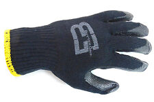 240 Pairs Better Grip Premium Black Double Dipped Rubber Coated Palm Work Gloves
