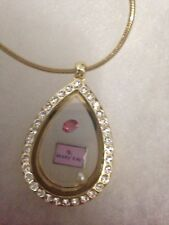 Mary Kay Make up lover Gold tone Teardrop Charm Locket - Fit Origami Owl Charm