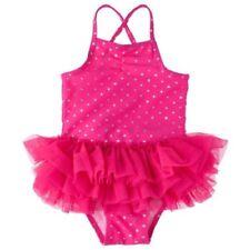 NWT CIRCO Infant Toddler Girls Heart Tutu 1-Piece Swimsuit PINK Sz 18 M Months