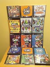 Sims 1, 2 & 3 Lot w/ Many Expansion Packs - 15 Game Lot - 7L