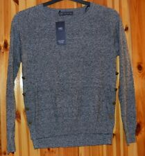 LADIES  M&S COLLECTION LADIES  JUMPER SIZE LARGE GREY MIX BUTTON ON SIDES