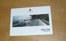 Porsche Price List 2004-2005 911 Carrera Coupe & Cabriolet 4S Turbo S GT2 GT3