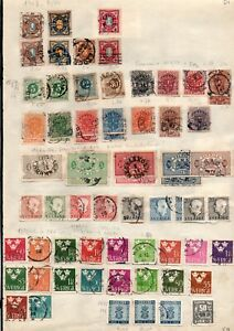 Sweden selection of 75 stamps on 2 pages from an old European collection.