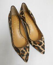New Nine West court shoes brown leopard print pony 4cm low heel US5.5 UK4