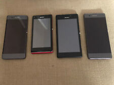 Job Lot of 4 Sony Xperia Mobile Phones - M2, L, XA - All Working Condition