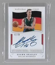 SHAWN BRADLEY NATIONAL TREASURES 2017-18 INTERNATIONAL AUTO 62/99
