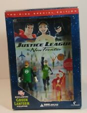 Dc Justice League; The New Frontier 2 disk set Dvd w/ Green Lantern figurine Nib