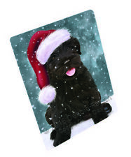 Let it Snow Black Russian Terrier Dog Tempered Cutting Board Large Db361