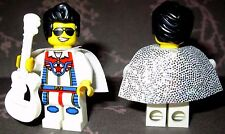NEW Lego Custom ELVIS PRESLEY Minifigure W/ Black & White Acoustic Guitar & Cape