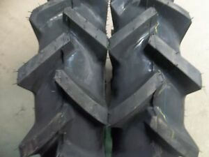 TWO 6x14, 6-14 Bar Lug R 1 4 ply Tube Type Tractor, Demolition Tires