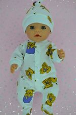 "Play n Wear Doll Clothes For 17"" Baby Born PATTERNED STRETCH AND GROW~HAT"