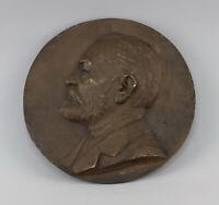 8638029 Bronce Placa con Relieve Medalla Firmado August Schreitmüller Retrato