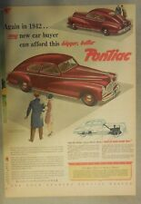 Pontiac Car Ad: 1942 A Better New Pontiac You Can Afford ! Size: 11 x 15 inches
