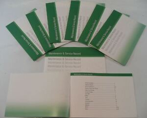 Generic Service History Book Suitable For Agile Aveo Camaro, Equinox Green