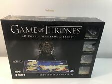 NEW Game of Thrones 4D Cityscape Puzzle of Westeros & Essos 891 pieces HOB