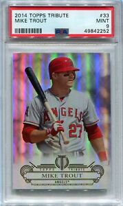 2014 Topps Tribute 33 Mike Trout PSA 9 MINT