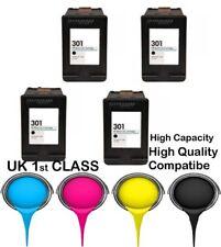 4 REMANUFATURED hp301 Black High Capacity& Quality cartridge for HP printer