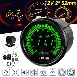 "2"" 52mm Car Electronic Voltmeter Digital LED Voltage Gauge Volt Meter 8-18V"