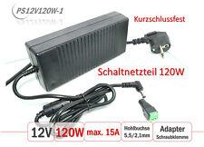 PS12V120W-1 12V DC Netzteil 120W | max. 15A | Motor Anwendung | Kurzschlussfest