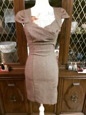 LE CHATEAU Size XXS brown sweetheart neck bodycon sheath dress ladies clothing